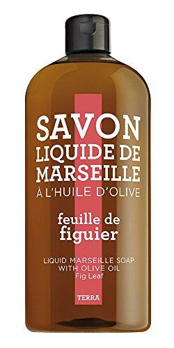 TERRA by Compagnie de Provence – Savon Liquide Feuille de vigne, Recharge 1000 ml