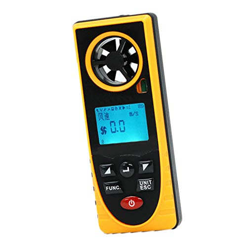 pb+ 7 IN 1 Windmesser Anemometer Digitaler Handheld Windmesser Digital LCD Wind Speed Meter Gauge PräZise Messung Der Windgeschwindigkeit für Wetterdaten und Outdoor-Sport Windsurfen Segeln