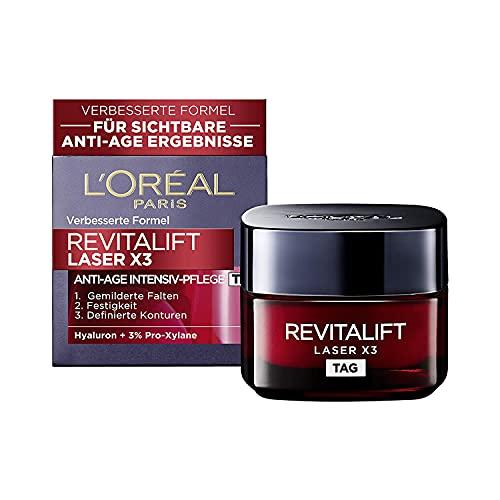 L'Oréal Paris Tagespflege, Revitalift Laser X3, Anti-Aging Gesichtspflege mit 3-fach Wirkung, Mit...