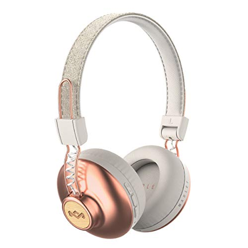 House of Marley Positive Vibration 2 Cuffie Wireless con Microfono, Diver da 50mm, Bianco/Rosa