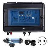 Omabeta Sistema de clorador de Sal de 20 g/h 100 W generador de Cloro electrónico electrolizador Tratamiento de Agua para Piscina SPA 230-240 V(European regulations)