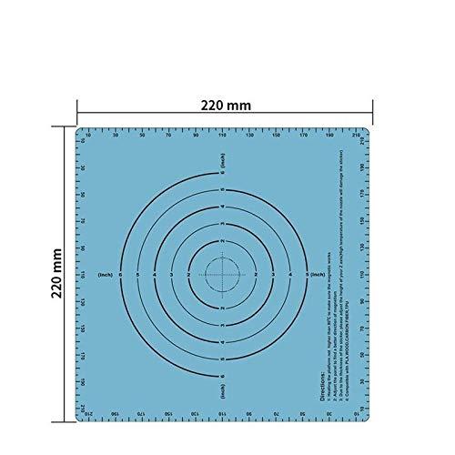 XBaofu 1pc Build-Oberfläche Platte Band Magnetic Wärme Bed Aufkleber Magnetische Druck Bed Band Hitze Papier 220 * 220mm for 3D-Printer Drucken Aufkleber (Größe : Blue)