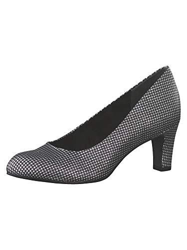 Tamaris 1-1-22418-23, Zapatos de Tacón Mujer, Plateado (PLAT.Glam STR. 932), 39 EU