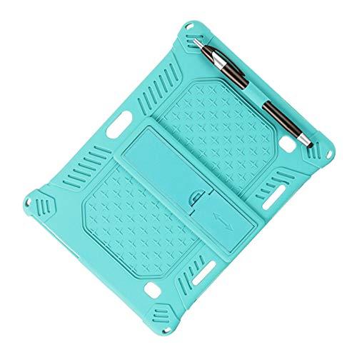Fauge Funda de Silicona para M30 M30 Funda Protectora para Tableta de 10,1 Pulgadas Soporte Ajustable para Tableta con LáPiz (Verde Claro)