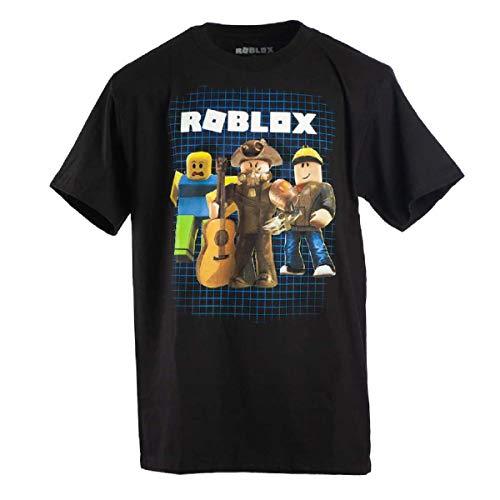 Roblox Boys 8-20 Power Up Tee (Medium) Black