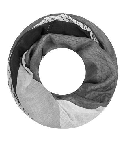 Majea NEUE Kollektion Damen Loop Schal viele Farben Muster Schlauchschal Halstuch in aktuellen Trendfarben (schwarz 38)