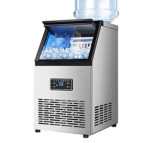 H.Slay Máquina de Hielo Comercial en Cubos Máquina automática para Hacer Hielo Maquinaria para pequeñas Empresas Máquina de Bolas de Hielo para Restaurante Bar Café Leche Tienda de té