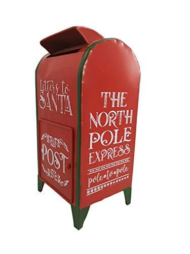 All Chic Briefkasten für den Weihnachtsmann, für die Schule, Rot und Grün