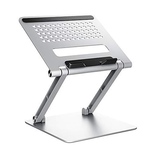WDEC Supporto Regolabile per Laptop, Stabile e Resistente allo Scivolamento, Regolazione Multi-Angolo di 90 °, con Sfiato Termico, Supporto per Notebook in Alluminio Compatibile (11-17,3 Pollici)