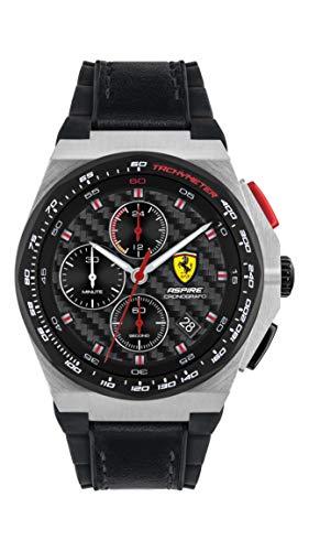 Scuderia Ferrari Reloj Cosa análoga para de los Hombres de Cuarzo con Correa en Cuero 830791