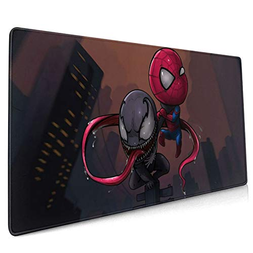 S-Pider-Man V-enom Cute Mouse Pad Non-Slip Rubber Base Waterproof Computer Big Desk Keyboard Mouses Mat for Gaming Surface/Office Durable Edges15.8 x 35.5 in