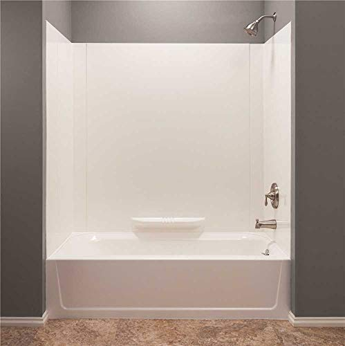 Mustee 350WHT Durawall Fiberglass Bathtub Wall Surround, White