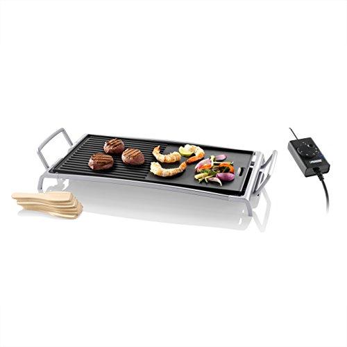Princess 01.103020.01.001 Table Chef Fiësta mit abnehmbarer Grillplatte/perfekt zum Braten, Grillen, Schmoren und Auftauen