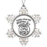 Cukudy Pracy in My Own Little World - Mellofono temperato, Decorazione Natalizia a Forma di Fiocco di Neve