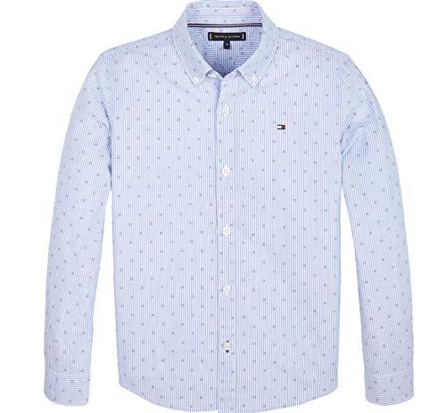 Tommy Hilfiger Hemd Dobby Clipping Shirt L/S, Fb. Blue Stripe (Gr. 12/152)