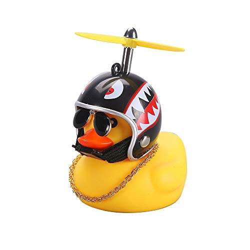CHAW 1 Piece Yellow Rubber Duck Toy with Propeller Helmet, Car Ornaments Car Dashboard Decorations for Adults, Kids(Random Color, 1 Piece)