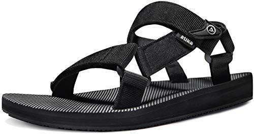 ATIKA Women's Islander Walking Sandals, Arch Support Trail Outdoor Hiking Sandals, Strap Sport Sandals, Summer Water Shoes, Islander(w214) - Black, 10