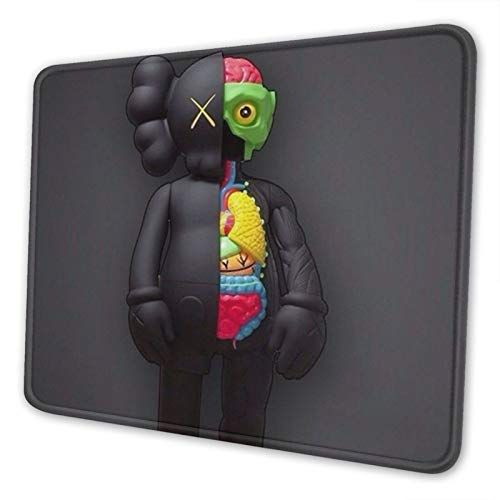 KAWS 8 Non-Slip Mousepad Gaming Computer Mouse Pad Gaming Desktop Laptop Mouse Pad with Stitched Edge 10x12 in