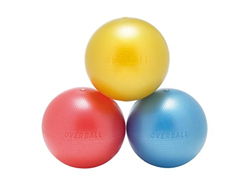 Overball 23cm Vinylball Spielball Gymnastikball Pilates Therapieball Trainingsball extra weich und griffig, farblich sortiert
