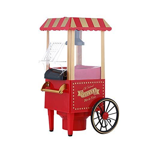 Professionele popcorn- en kortingsauto, 15,7 inch hoog, kan 30 kopjes maken, met kernmaatbeker, oliemaatlepel en lepel, snel rood
