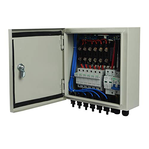 ECO-WORTHY 6 String PV Combiner Box & 63A Circuit Breakers for Solar Panel