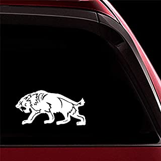 sticker de carro 17.2Cmx8.6Cm Fierce Saber Toothed Tiger Decor Car Sticker Decal Car Door Accessories