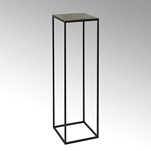 Lambert Dado Säule Alu Finish groß 30 x 30 x H100 cm, Metall, Graphit, schwarz, One Size