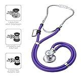 MDF Sprague Rappaport Zweikopf-Stethoskop mit austauschbarem Bruststück für Erwachsene, Kinderärzte und Säuglinge - Lila (MDF767-08)