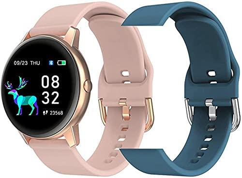 R3 smartwatch señoras reloj inteligente IP68 impermeable deportes correa ritmo cardíaco fitness señoras reloj para Android IOS-O