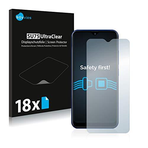Savvies 18x Schutzfolie kompatibel mit Allview Soul X6 Mini Bildschirmschutz-Folie Ultra-transparent