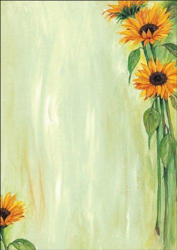 """Sigel DP694 Motiv-Papier """"Sunflower"""", Briefpapier 90 g, DIN A4, 25 Blatt - weitere Motive"""