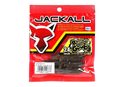 JACKALL(ジャッカル)ワームリズムグラブ2.4インチダークシナモン/ブルーフレークルアー
