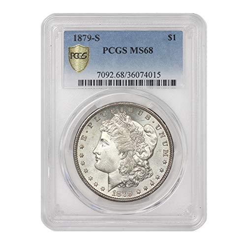 1879 S American Silver Morgan Dollar MS-68 by CoinFolio $1 MS68 PCGS