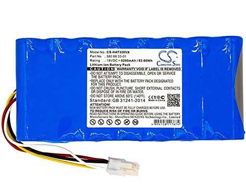 Cameron sino Batterie compatible avec Husqvarna Automower 320, 330X, 430, Automower 420 2016, 2016, pour 580 68 33-01 580 68 33-02 580 68 33-03, 18V, Li-ion, 5200mAh/93.60Wh, bleu