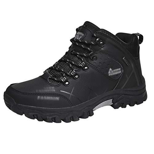 Rengzun Hombre Zapatos de Senderismo Resistente Antideslizante Al Aire Libre...