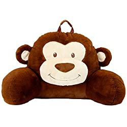Sweet Seats Adorable Monkey Reading Cushion | Lightweight and Portable Monkey Bed Rest Pillow | Perfect for Ages 2+