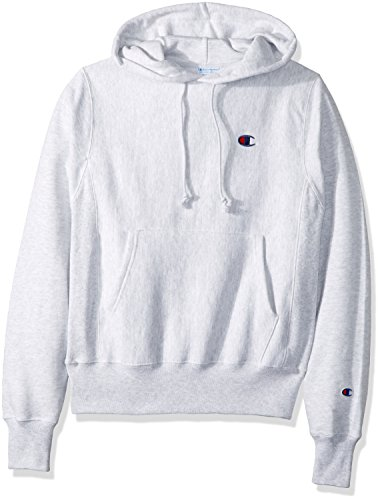 Champion LIFE Men's Reverse Weave Pullover Hoodie, GFS Silver Grey/Left Chest C Logo, X Small