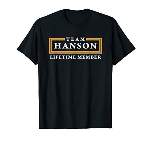Team Hanson Lifetime Member Surname Shirt T-Shirt