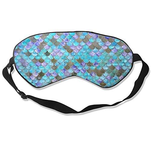 Premium Super Zacht Ademend Oogmasker met Verstelbare Band - Roze Tandpasta van Tandpasta - Licht Blokkerend Slaapmasker voor Reizen, Nap, Yoga, Meditatie Eén maat Zeemeermin vis schaal