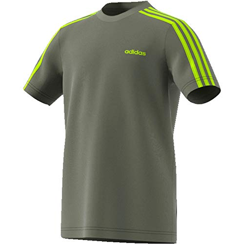 adidas Jungen YB E 3S Tee T-Shirt, Verleg/Seliso, 170 (14/15 años)