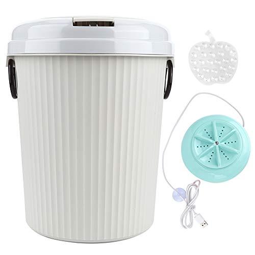 hong Lavadora portátil, 8L 18W Mini Lavadora de Ropa de Escritorio alimentada por USB, Lavadora de Ropa ultrasónica para Camping, dormitorios, Apartamentos, Viajes de...