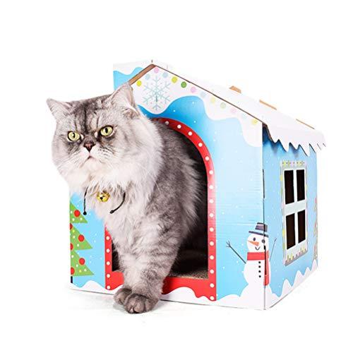 POPETPOP- 1pc pet cat House DIY Klappbares Katzenetz Schlafsofa Haus Schneehaus für Katzen Haustiere Hunde
