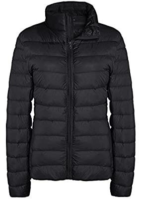 ZITY Down Jacket Water Repellent Lightweight Down Coat Black US XX-Large by