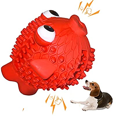 Dog Toys for Small Dogs Strong Squeaky Chew Dog Toys Interactive Nearly Indestructible Pets Durable Rubber Tough Toy for Boredom Medium Large Dogs Birthday Gifts