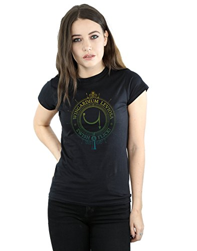 Harry Potter Damen Wingardium Leviosa Spells Charms T-Shirt XX-Large Schwarz