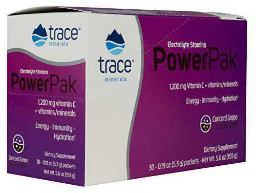 416jLfedGRL - Trace Minerals Research Liquimins 1200 mg Concord Grape Vitamin C Electrolyte Stamina Power Pack