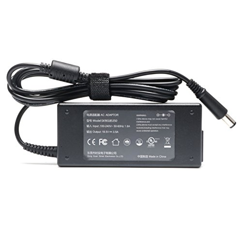18.5V 3.5A 65W Ac Adapter Charger for HP Pavilion DV4 DM4 G7 G6 G4 HP Notebook 2000 2000-2d60dx 2000-2d19wm 2000-369wm PC Power Supply Cord Plug