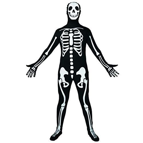 SEA HARE Mono de Esqueleto de Halloween para Hombre Disfraz de Día de Muertos