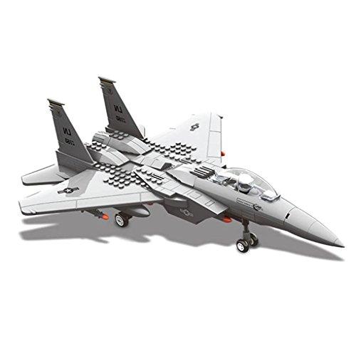 WANGE Luftfahrtmodell – Maßstab 1:48 Taktisches Doppelmotor Kampfflugzeug F15 Eagle Fighter zum Aufbau mit Bausteinen