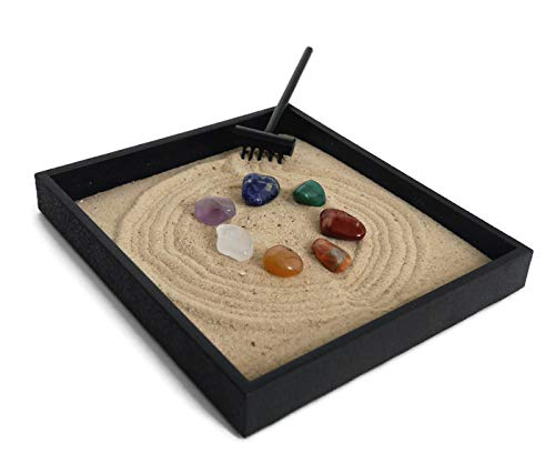Zen garden with sand
